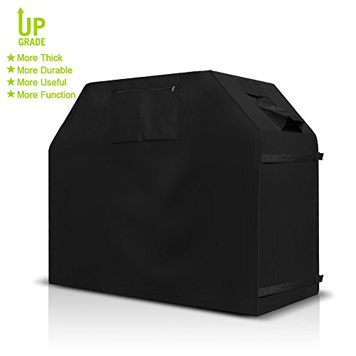 Best Deals! MangGou BBQ Grill Cover, Gas Grill Cover, Medium 58-Inch Heavy Duty Weather Resistant Fa...