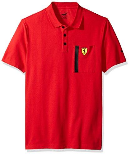 PUMA Men's Scuderia Ferrari Polo, Red M