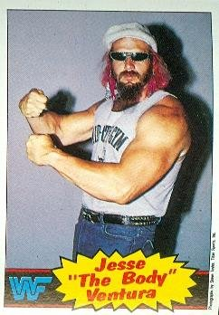Jesse Ventura trading card (Wrestling The Body WWF WWE) 1985 Topps (Wwf Trading Card)