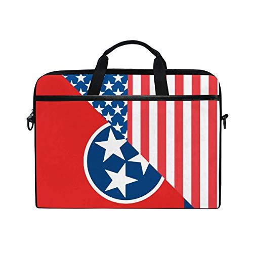 - HUZK Mens Womens American and Tennessee State Flag Laptop Bag Messenger Bag Satchel Shoulder Bag Multi-Functional Laptop Sleeve Business College Briefcase