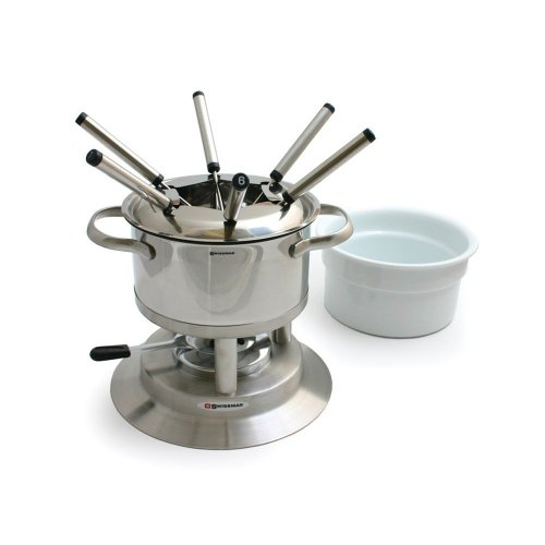 Swissmar Arosa 11 Piece Stainless Fondue Set (Cheese Swissmar Fondue)