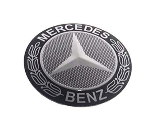 ihave Replacement For Steering Wheel Emblem Logo Car Badge Sticker 56 mm Mercedes Benz (C) ()
