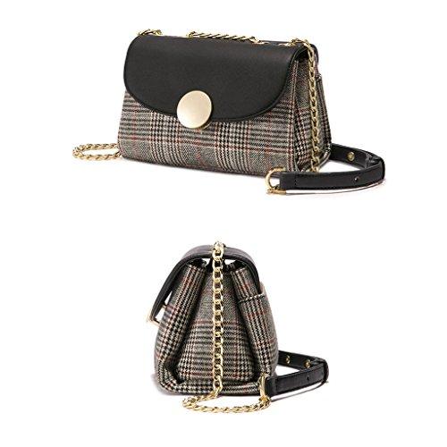 Chain Shoulder Bags Zhenhongang Messenger Plaid AqxnPCdaAw