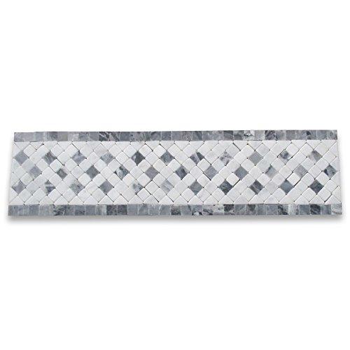 Inca Sky 3-1/4x12 Marble Mosaic Border Listello Tile Tumbled ()
