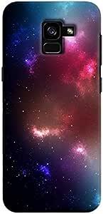Cover It Up - Pink Cyan Star Cloud Samsung Galaxy A8 2018 Hard Case
