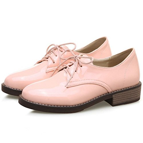 Up Scarpe Pink Lace Donna Zanpa Brogue Moda wHvXXaq