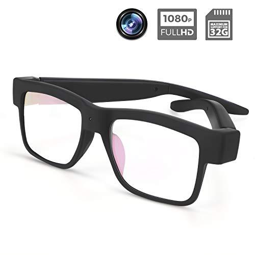Camera Glasses 1080P Towero Mini Video Glasses Wearable Camera
