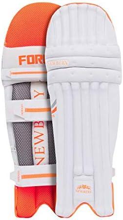 Cuscinetti da Cricket Taglia S Newbery Colore: Bianco//Arancione Unisex