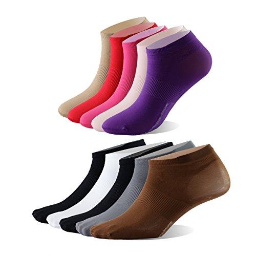 Enerwear 30Pack Unisex Family Diary Super Soft No Show Socks(One Size, Mix (Lightweight Nylon Sport Socks)