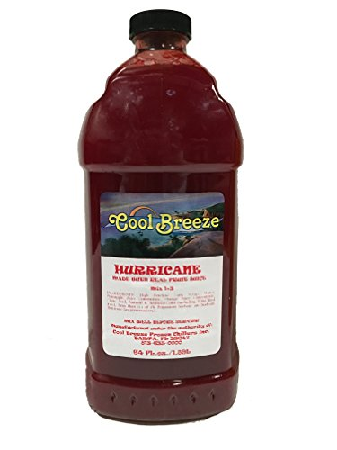 - Cool Breeze Beverages Ready to Use Slush Mix, Hurricane, 1/2 gal