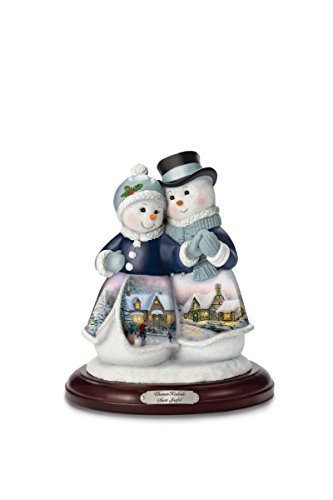 Thomas Kinkade Snow Joyful Snow Couple Figurine