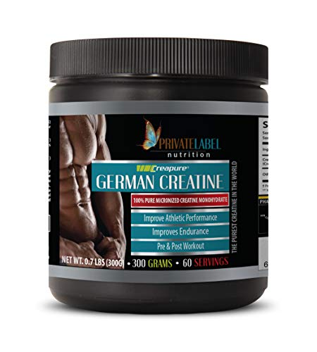 pre Workout Supplements for Muscle gain - German CREATINE Powder CREAPURE - PRE & Post Workout - Creatine for Mass Building - 1 Can 300 Grams (60 Servings)