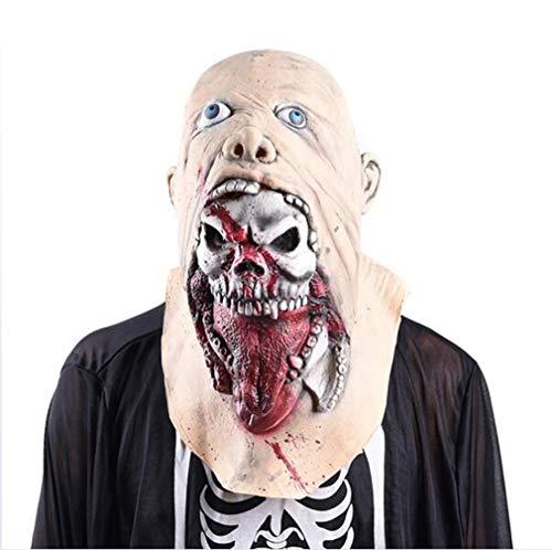TQZY Creepy Horror Skull Halloween Mask Lifelike Vivid