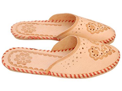 Bawal - Zapatillas de estar por casa de Piel para mujer Beige beige 36