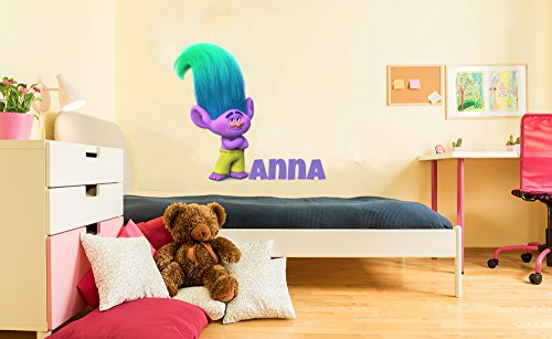 Dreamworks Trolls Creek Personalized Wall Decal