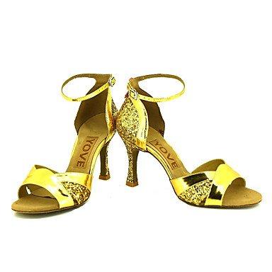Plata Personalizado Oro Zapatos Latino de baile Salsa Tacón Rojo Negro sliver Personalizables xAwxaIqR