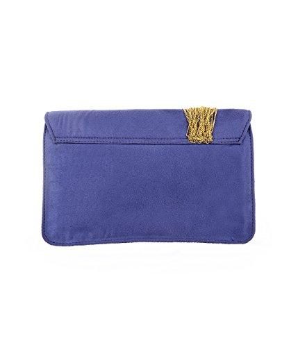 Ruhmet - Cartera de mano para mujer Azul Violet Blue