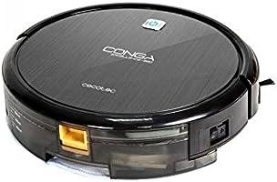 Cecotec Conga Excellence 990 - Robot aspirador, Programable 24h, 5 modos de limpieza, Filtro HEPA, Negro