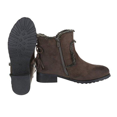 Boots Italialaisesta Designista Naisten Slip Ruskea rqTrtwgYd