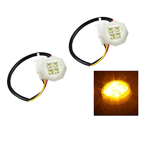 (Xprite 2 Yellow(Amber) LED Hide Away Strobe Tube for 80w / 120w / 160w Kits Headlight Replacement Bulbs)