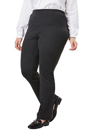 Woman Within Women's Plus Size Tall Bootcut Ponte Stretch Knit Pant by Woman Within