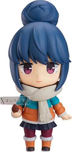Max Factory AUG188367 AUG188367 Laid-Back Camp: Rin Shima (Deluxe Version) Nendoroid Action Figure, Multicolor