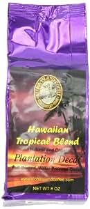 Aloha Island Coffee Company Hawaiian Tropical Blend Plantation Decaf, Full-Bodied Coffee, 8-Ounce Bags (Pack of 2)