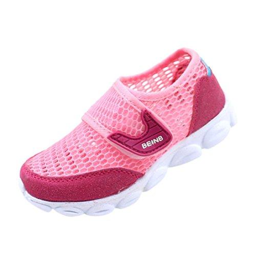 HUHU833 Baby-Art und Weise Turnschuh, Bequeme Atmungsaktive Ineinander Greifen Beiläufige Sport Schuhe IM Freien Laufende Schuh Mädchen Jungen Rot