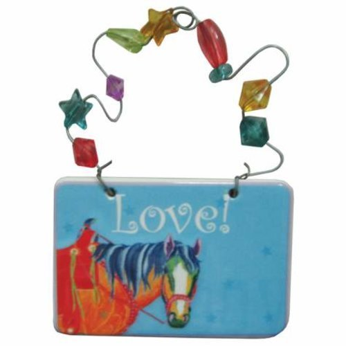 Kole Imports HG566 Love! Horse Ceramic Gift Tag
