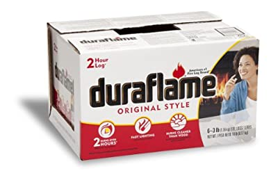 Duraflame 633 Firelogs, 3-Pound, 6-Pack