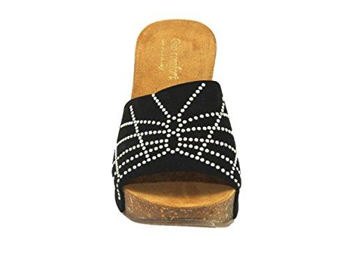 Silfer Shoes Women's Bio Confort Nero Platform Pumps dkcRktbY