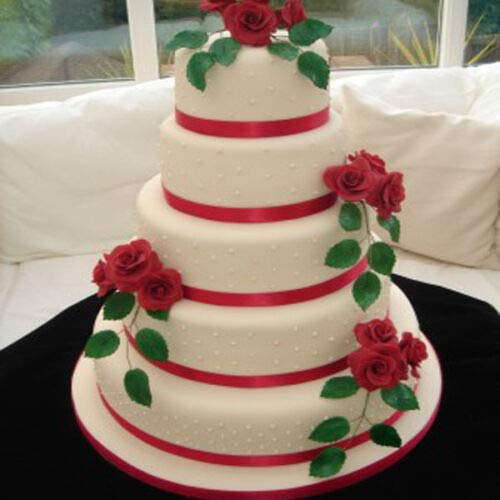 Set of 5 Tier Round Multilayer Birthday/Wedding Anniversary Cake Tins/Cake Pans/Cake Moulds 6''.7''.8''.9''.10'' - all 3'' Deep by AmeriTins (Image #3)