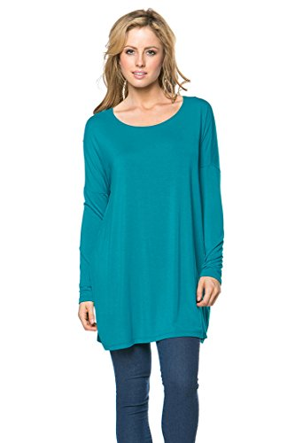 Iron Puppy Womens Long Sleeve Bamboo Top Loose Fit Tunic Small (Bamboo Tunic)