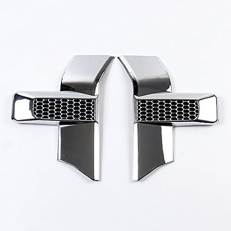 Parachoques delantero Faros y cromado rejilla de coche para 15 - 17 Ford F150 accesorios: Amazon.es: Coche y moto