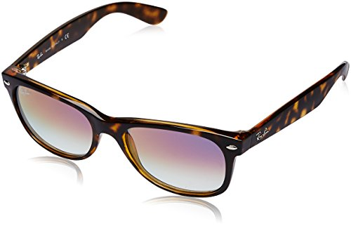 Ray-Ban Men's New Wayfarer Square Sunglasses, HAVANA, 54.8 ()