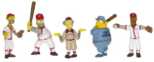 Simpsons Homer At The Bat Baseball Mini Figures Set