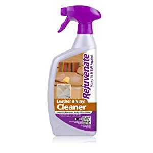 Rejuvenate Leather & Vinyl Cleaner – Instantly Removes Body Oils and Grime - Cleans, Restores and Protects All Leather & Vinyl Surfaces – 24 Ounce