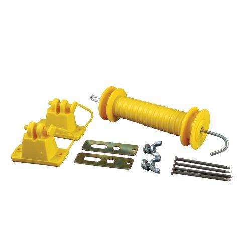 Zareba YWPGK10 Wood Post Gate Kit, Yellow (Gate Anchor Kit)