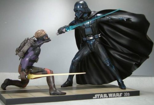 STAR WARS Luke Skywalker vs. Darth Vader Ralph Mak Wally Ver. (1/7 scale PVC painted simple assembly kit) (japan import) ()