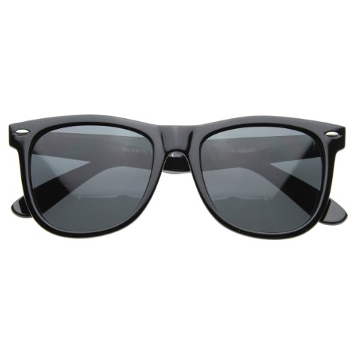 zeroUV - Large 55mm Polarized Lens Anti Glare Classic Horn Rimmed Style Sunglasses - Wayfarer Large