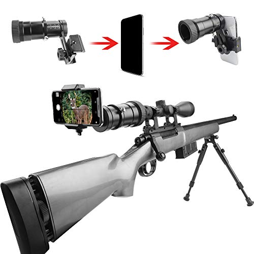 SOLOMARK Rifle Scope Smartphone Adapter, Quick Telescopic Focus Adjuster and Wrap Gun Scope (Out Diameter of Eyepiece Within 37-46mm) Adapter Record Hunting Moment by Phone ()