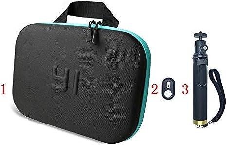 SIZOO - Sports Camcorder Cases - Yi Bluethooth remote control selfie stick Monopod Storage Bag Case For for Xiaomi yi Xiaoyi 4k Lite Mijia Sports Camera Accessories (selfie stick Set)