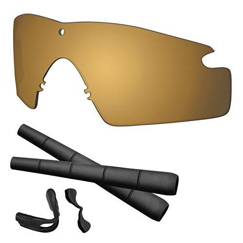 Predrox Metallic Bronze Mirror Si M Frame 2.0 Lenses & Rubber Kits Replacement for Oakley Polarized ()