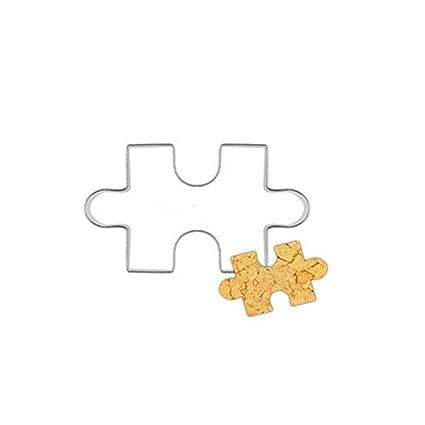 dragonaur Puzzle Shape Cookie cortador de pastel fondant molde herramienta de acero inoxidable