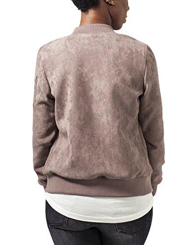 Urban Classics Damen Jacke Ladies Imitation Suede Bomber Jacket