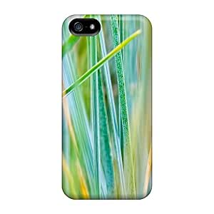 High Grade LastMemory Flexible Tpu Case For Iphone 5/5s - Grass