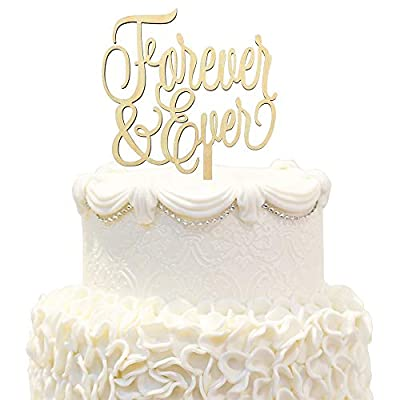 Forever & Love Wood Rustic Cake Topper Fabulous Wedding Propose Bride & Groom Sweet Love Party Photo Prop Decoration.