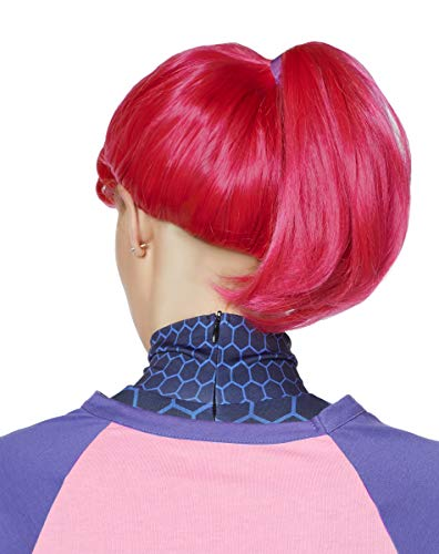Spirit Halloween Fortnite Brite Bomber Wig for Adults | Officially Licensed Pink