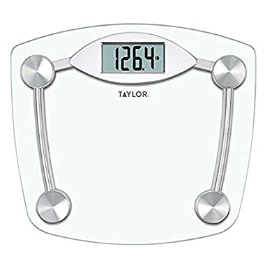 Taylor Precision 7506 Digital Scale (high Tempered Clear Glass and Chrome)