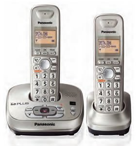 PANASONIC KX-TG4022N DECT 6.0 EXPANDABLE DIGITAL CORDLESS PHONE SYSTEM (DUAL HANDSET SYSTEM) (Dect Dual Phone)